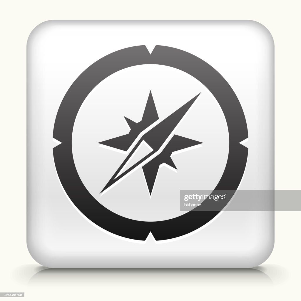 royalty free vector icon button with compass vector art getty images rh gettyimages com free compass vector download free compass vector ai