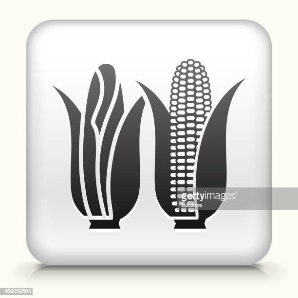 royalty free vector icon button with corn - zea stock illustrations, clip art, cartoons, & icons