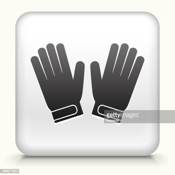 ilustraciones, imágenes clip art, dibujos animados e iconos de stock de sin royalties de vector icono botón con guantes de portero icono - guantes de portero