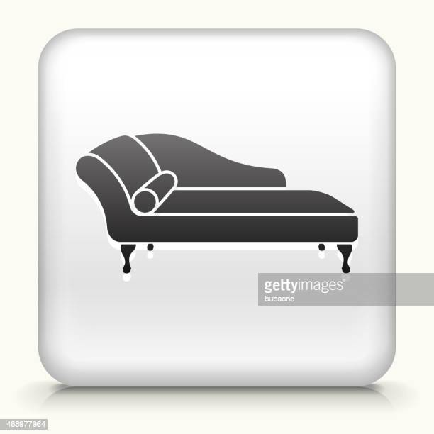 royalty free vector icon button with sofa daybed - chaise stock illustrations, clip art, cartoons, & icons