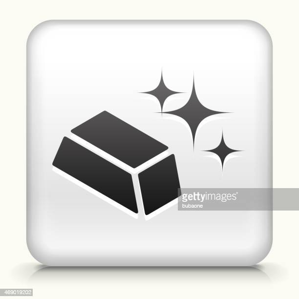 Royalty free vector icon button with Sparkeling Gold Plate