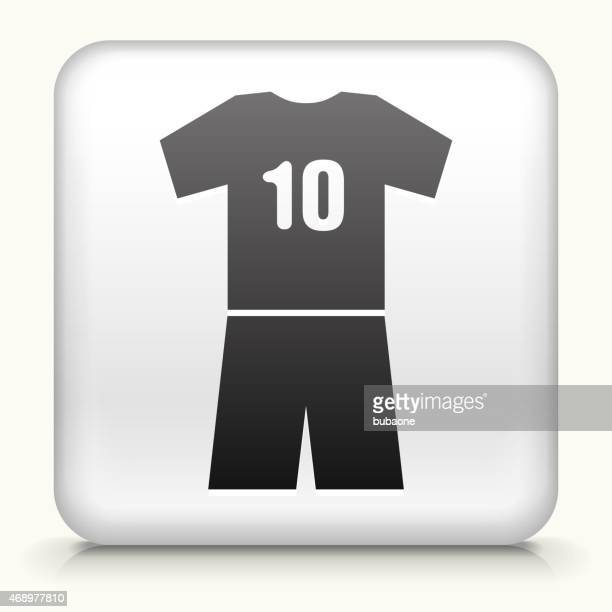 Royalty free vector icon button with  sports soccer uniform icon