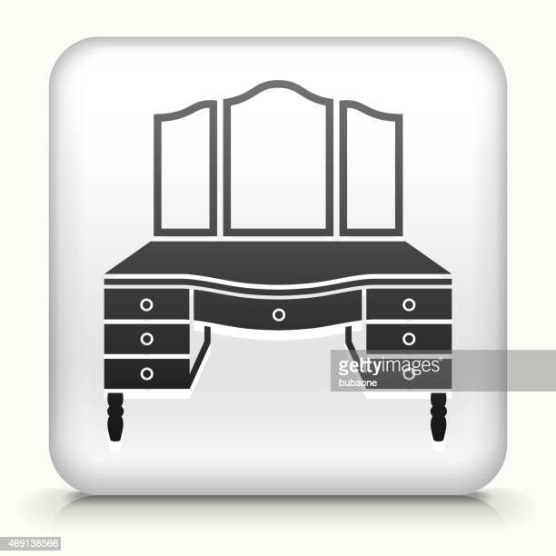 Royalty free vector icon button with Vanity Set