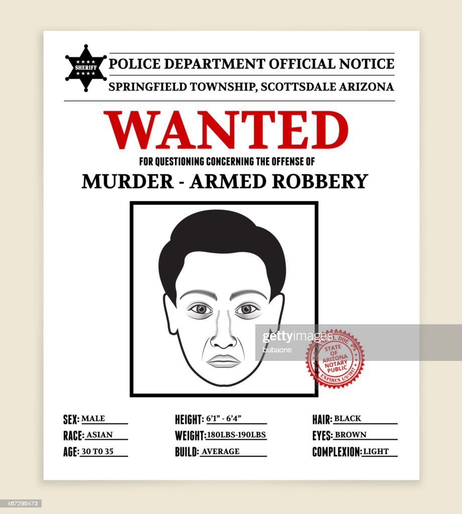 royalty free vector illustration most wanted poster vector art
