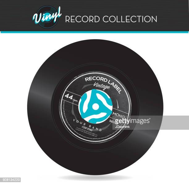 45 rpm record with adapter