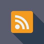 Rss flat icon.