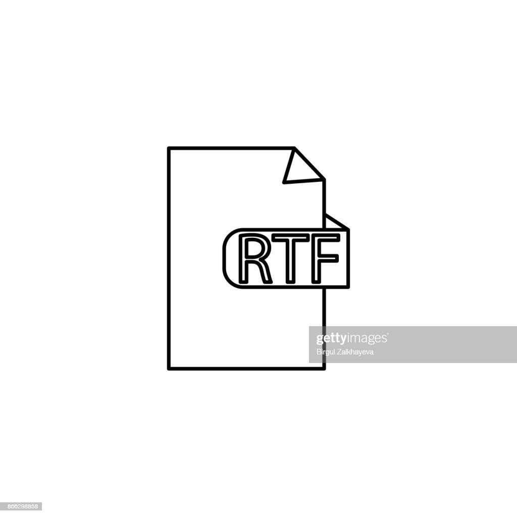 rtf document format icon