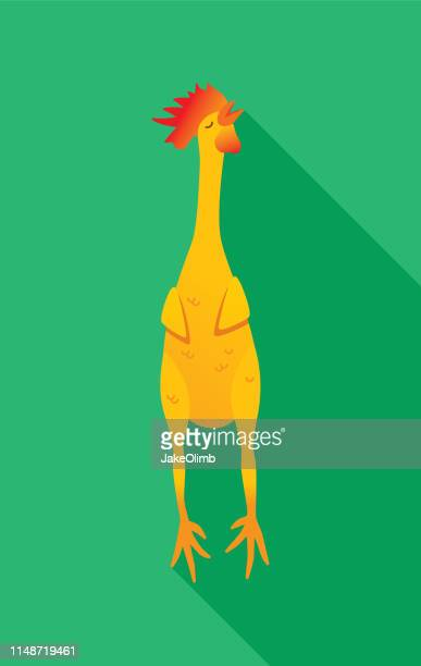 rubber chicken icon flat - naughty america stock illustrations, clip art, cartoons, & icons