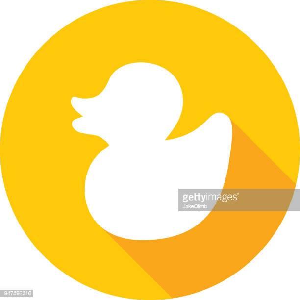 bildbanksillustrationer, clip art samt tecknat material och ikoner med gummi anka ikonen siluett - duck