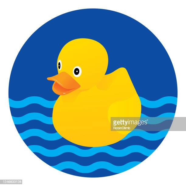 rubber duck swimming - rubber duck stock illustrations