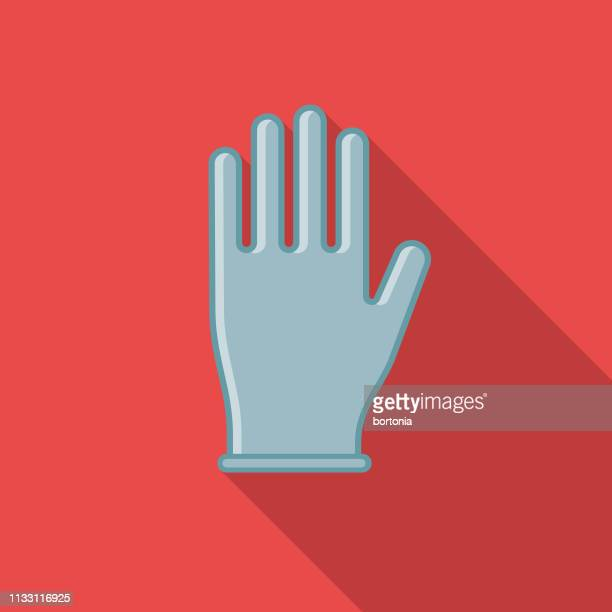 rubber glove hairdressing icon - surgical glove stock illustrations