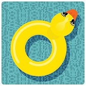 Rubber ring duck
