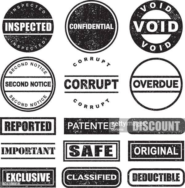 rubber stamp black and white icon set on transparent background - freedom stock illustrations