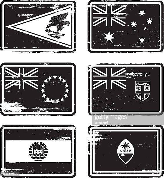 Rubber Stamp Flags - Oceania