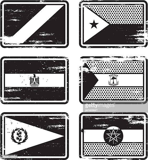 rubber stamp flags - ethiopia stock illustrations, clip art, cartoons, & icons