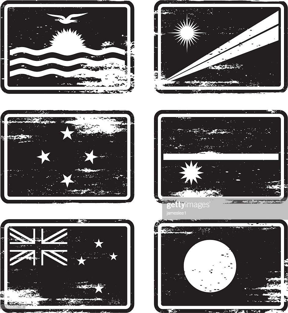 Rubber Stamp Flags : stock illustration