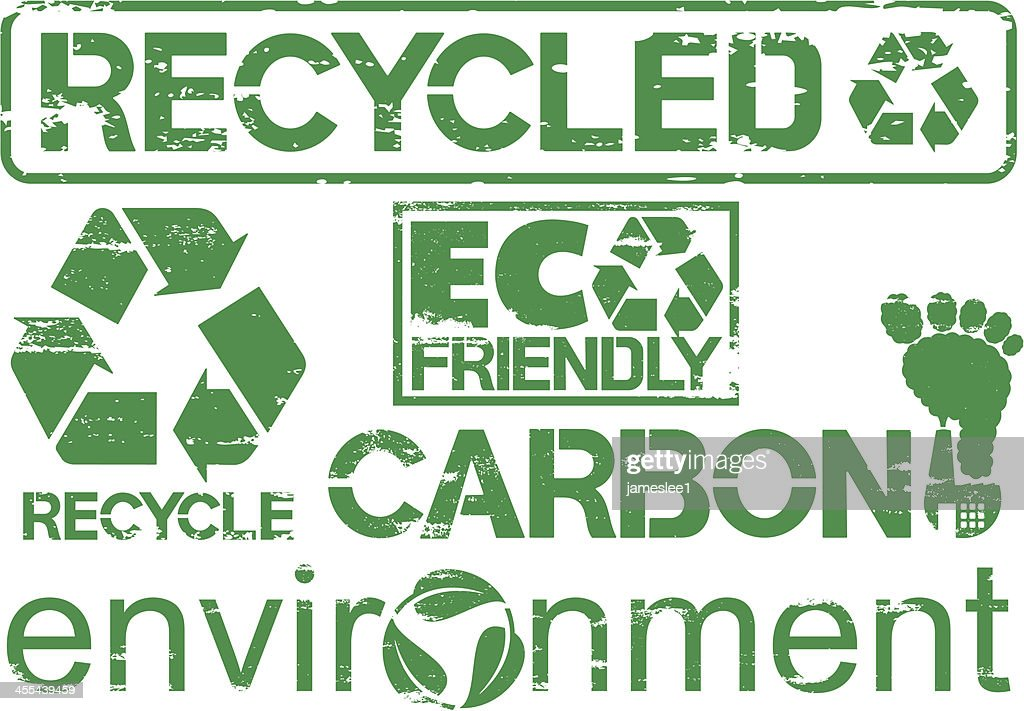 Rubber Stamp Recycle Symbols
