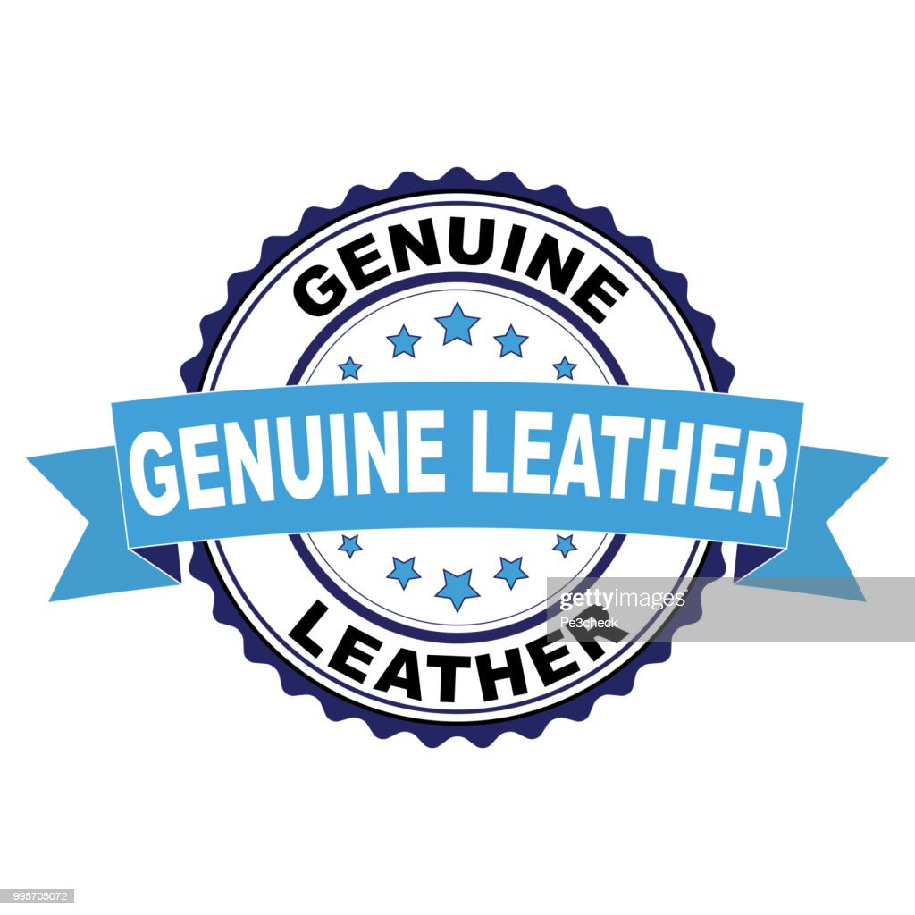 Rubber stamp with Genuine Leather concept