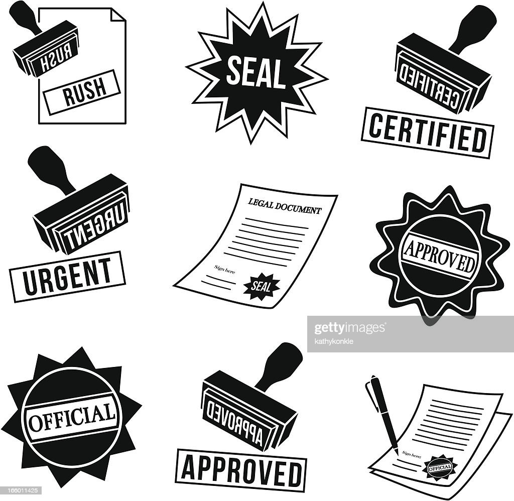 rubber stamps and seals : stock illustration
