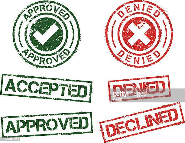 Rubber stamps - approved denied