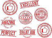 Rubber stamps - great job