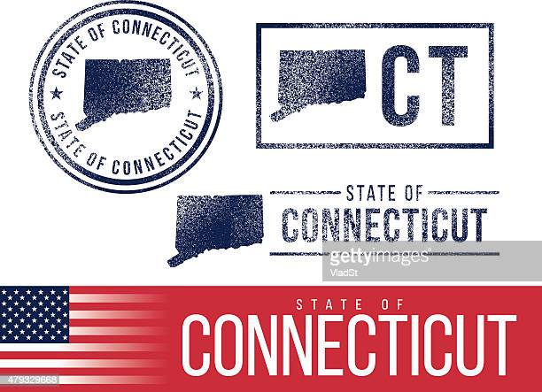 USA rubber stamps - State of Connecticut