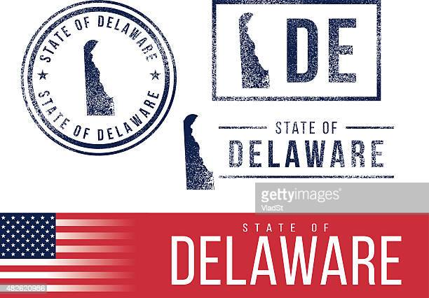 USA rubber stamps - State of Delaware