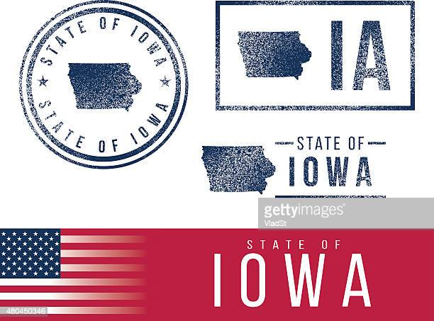 USA rubber stamps - State of Iowa