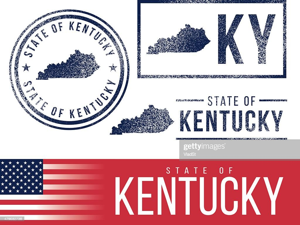 USA rubber stamps - State of Kentucky