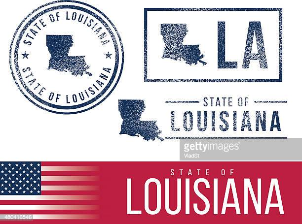 usa rubber stamps - state of louisiana - louisiana stock illustrations, clip art, cartoons, & icons