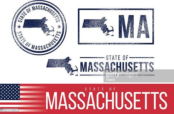 USA rubber stamps - State of Massachusetts