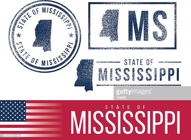 usa rubber stamps - state of mississippi - mississippi stock illustrations, clip art, cartoons, & icons