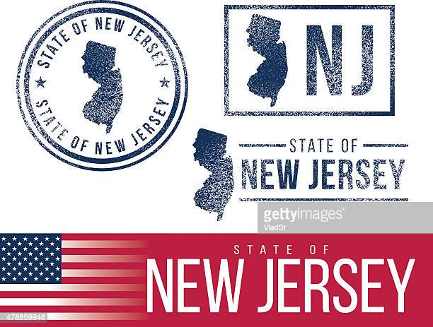 USA rubber stamps - State of New Jersey
