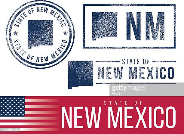 usa rubber stamps - state of new mexico - new mexico stock illustrations