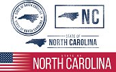 USA rubber stamps - State of North Carolina