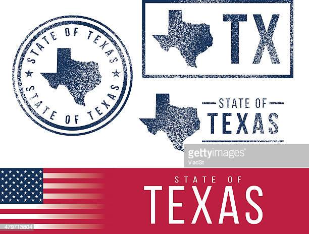 usa rubber stamps - state of texas - texas stock illustrations