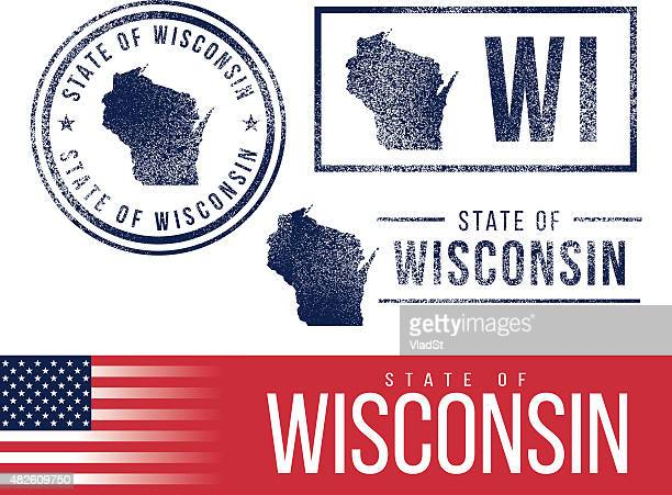 USA rubber stamps - State of Wisconsin