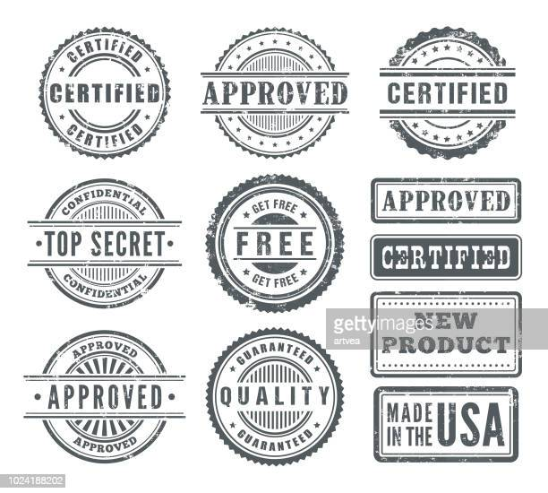 rubber stamps - postage stamp stock illustrations