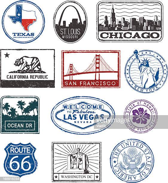 USA rubber stamps