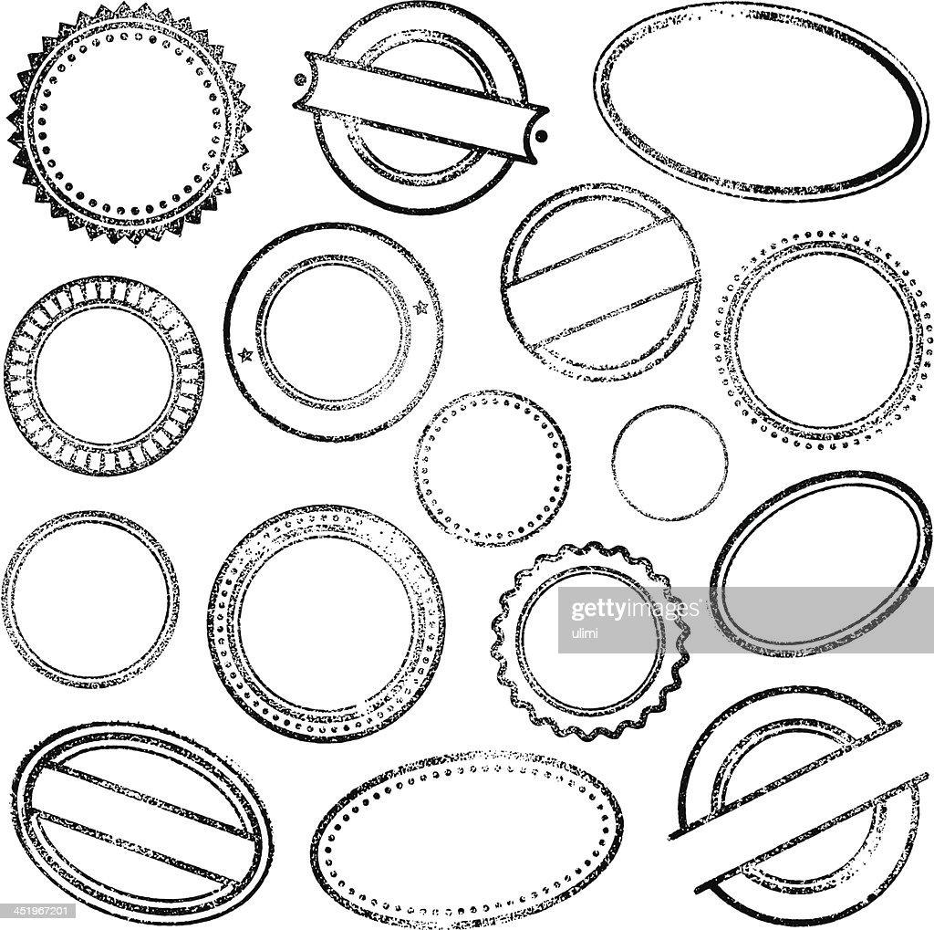 Selos de borracha : Ilustração de stock