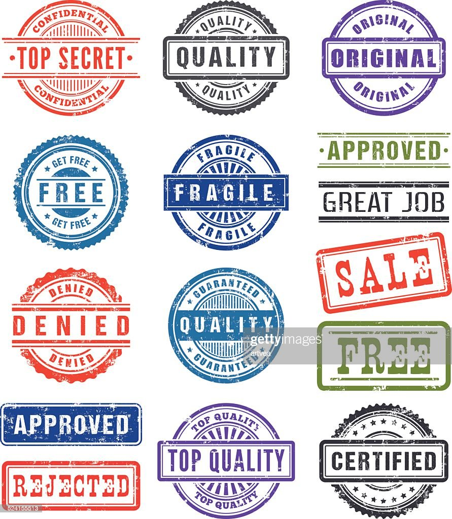 Rubber Stamps : stock illustration