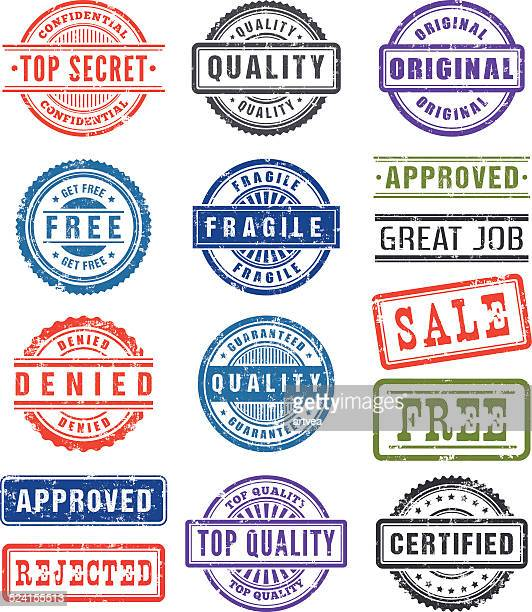 rubber stamps - permission concept stock illustrations, clip art, cartoons, & icons