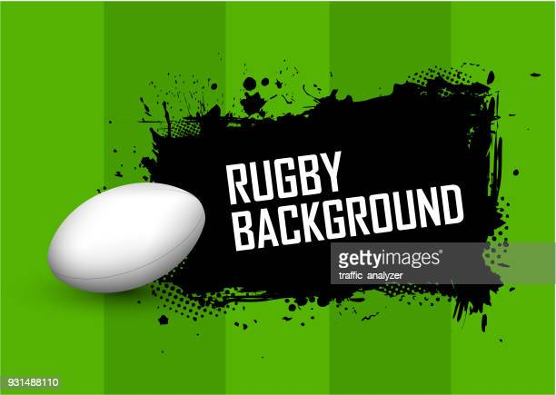rugby background - rugby ball stock illustrations, clip art, cartoons, & icons