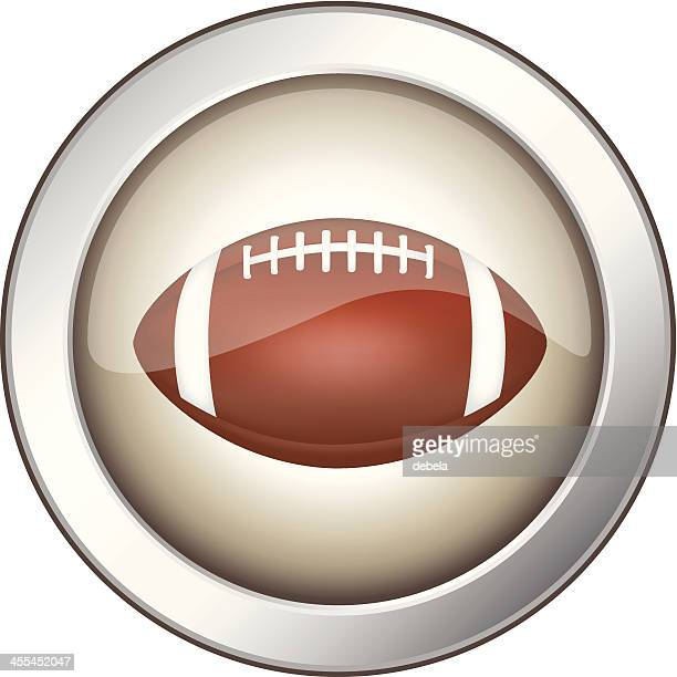 rugby ball badge - medallion stock illustrations, clip art, cartoons, & icons