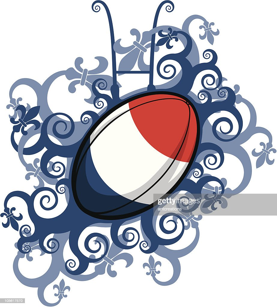 Rugby Ball Emblem France High Res Vector Graphic Getty Images