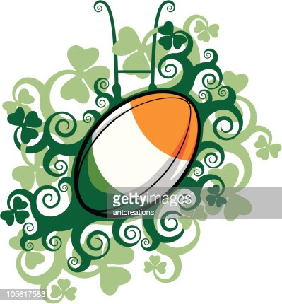 Rugby Ball Emblem Ireland High Res Vector Graphic Getty Images