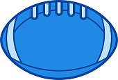 Rugby ball line icon
