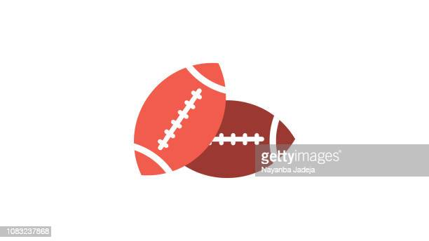 rugby ball - rugby ball stock illustrations, clip art, cartoons, & icons