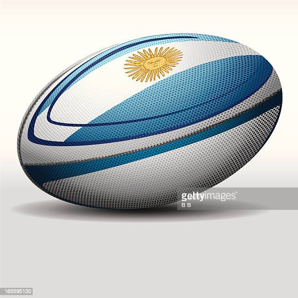 rugby ball-argentina - rugby ball stock illustrations, clip art, cartoons, & icons