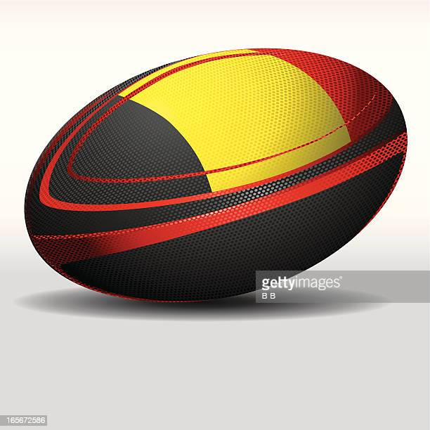 rugby ball-belgium - rugby ball stock illustrations, clip art, cartoons, & icons